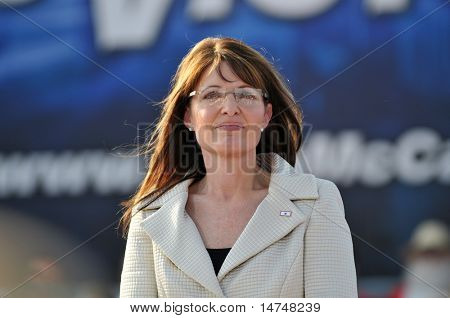 O'FALLON - AUGUST 31: Governor of Alaska Saran Palin at a rally in O'Fallon near St. Louis, MO on August 31, 2008