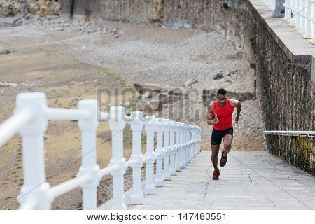 Runner Sprinting For Leg Power Training