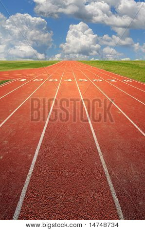 running track on a sunny day