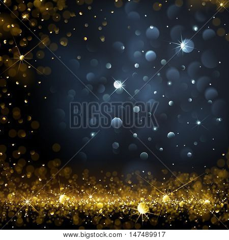 Christmas Background with bokeh effect. Vector illustration