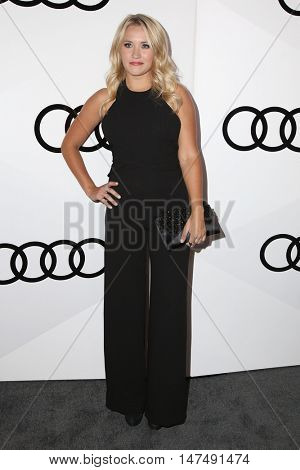 LOS ANGELES - SEP 15:  Emily Osment at the Audi Celebrates The 68th Emmys at the Catch on September 15, 2016 in West Hollywood, CA