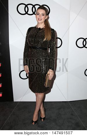 LOS ANGELES - SEP 15:  Carly Steel at the Audi Celebrates The 68th Emmys at the Catch on September 15, 2016 in West Hollywood, CA