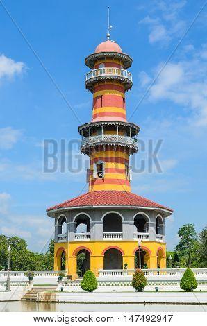 Thai Royal Residence at Bang Pa-In Royal Palace in Ayutthaya Thailand.