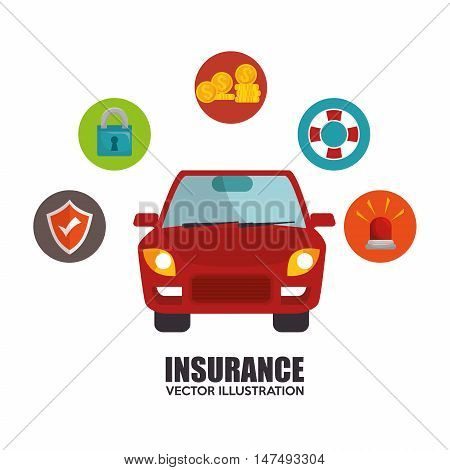 icon insurance car design vector illustration eps 10