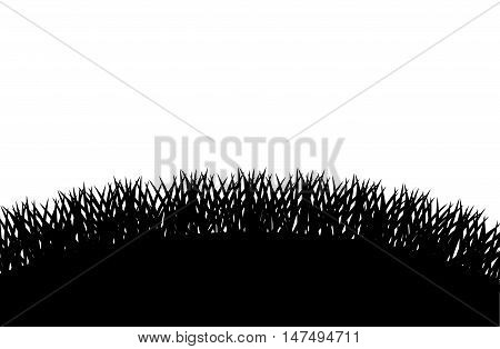 Grass silhouette icon. lawn plant nature and field theme. Vector illustration