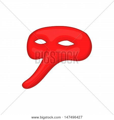 Plague doctor mask icon in cartoon style isolated on white background vector illustration