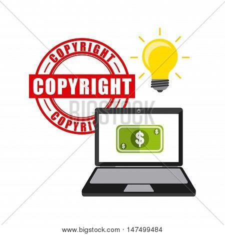 business copyright concept icons vector illustration, eps10
