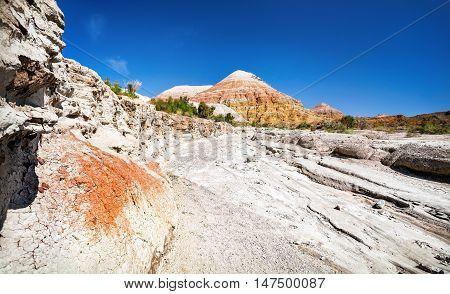 Desert Canyon And Mountain