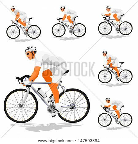 Basic road cyclist (Silver transmission) without pattern for creating your own variation