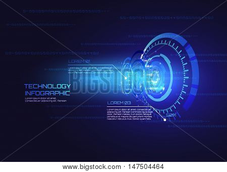 Futuristic interface infographics, HUD, technology vector background.
