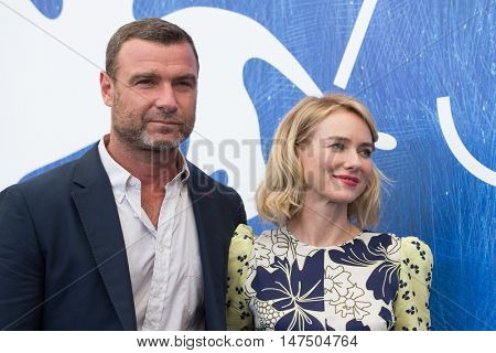 Liev Schreiber, Naomi Watts  at the photocall for The Bleeder at the 2016 Venice Film Festival. September 2, 2016  Venice, Italy