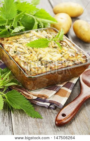 Spring Casserole With Nettle
