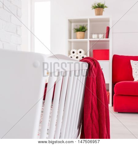 Red And White Beautifully Combined In A Baby Room
