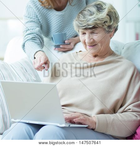 Elder Woman With Laptop
