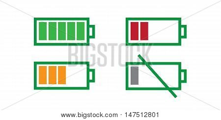 battery full and battery empty vector, vector illustration eps10.
