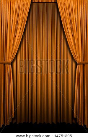 Golden curtain in vertical format