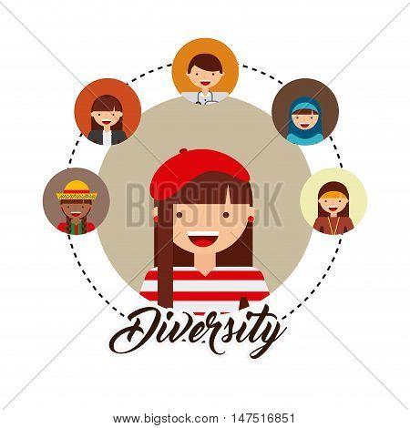 diversity of world cultures vector illustration design