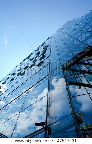 Office building with a glass facade in Berlin