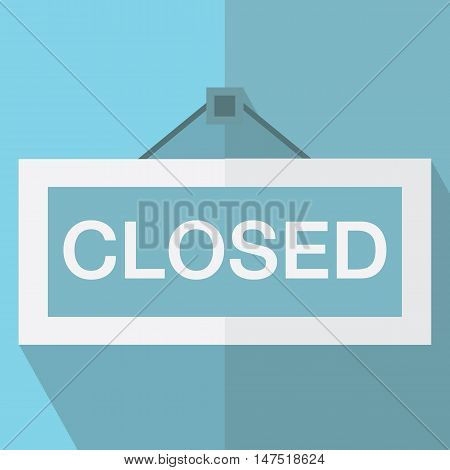 closed hanging sign vector design, vector illustration eps10.