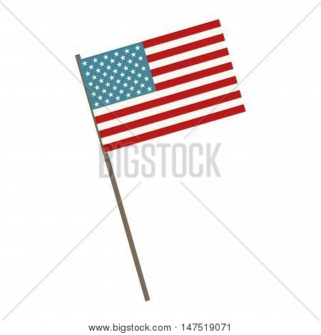 usa flag symbol. united states of america patriotic sign. vector illustration