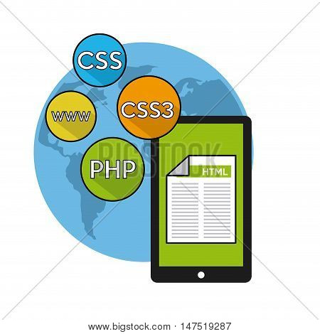 software programming language icons vector illustration design