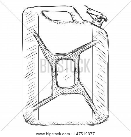 Vector Sketch Single Jerry Can