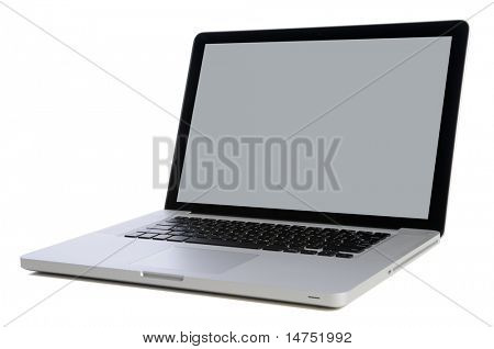 Lap top computer isolated over white background