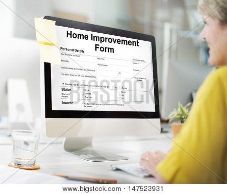 Home Improvement Form Personnel Details Concept