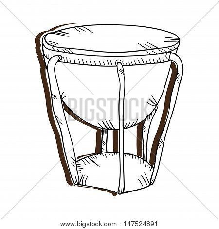 bongo drum musical instrument. traditional music element. vector illustration