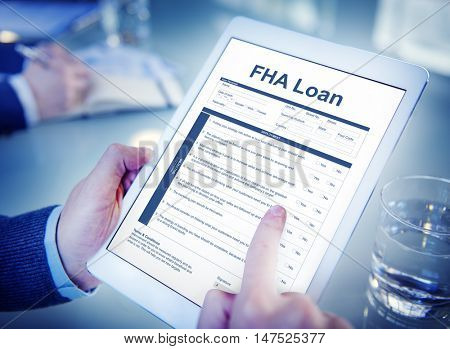 FHA Loan Borrower Document Questionaire Concept
