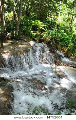 Dunn River water falls in Ocho Rios Jamaica