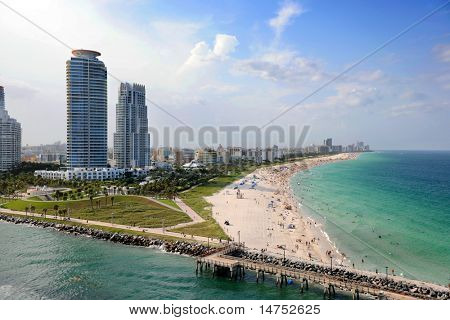 Luftbild von South Miami Beach