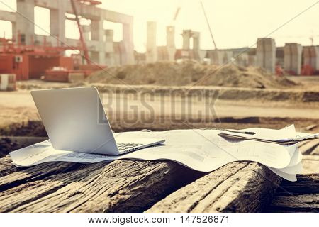 Construction Career Structure Inspector Concrete Concept