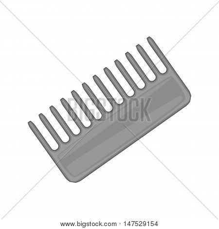 Hairbrush barber comb icon in black monochrome style isolated on white background vector illustration