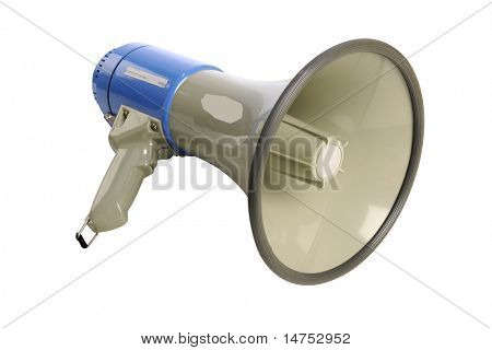 Megaphone isolated over white background - With Clipping Path