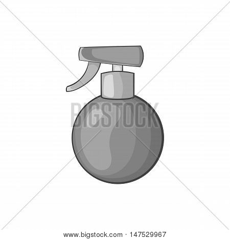 Spray bottle icon in black monochrome style isolated on white background vector illustration