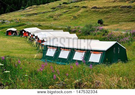 childrens summer camp in Valle Aosta in alpien mountains