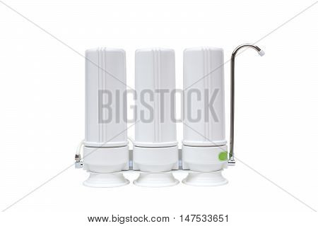 A water filter isolated on white background