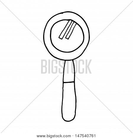 lupe magnifying glass search explore instrument focus examine vector illustration