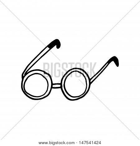 glasses accessory eyewear. optical vision lens. vector illustration