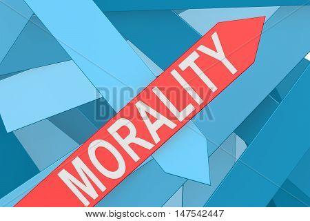 Morality Arrow Pointing Upward