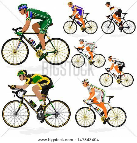 National Cyclist  of Africa,Belgium,Bolivia,Germany,Jamaica,Kuwait,Sweden on transparent background
