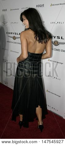 Sandra McCoy at the Los Angeles screening of 'Cry Wolf ' held at the ArcLight Theaters Hollywood, USA on September 15, 2005.