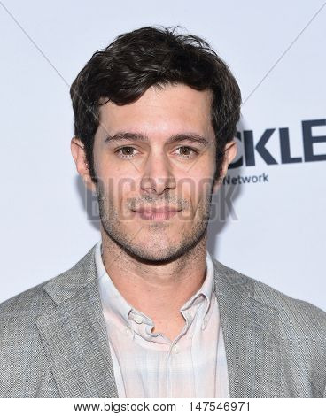 LOS ANGELES - SEP 23:  Adam Brody arrives to the Crackle's Original Series