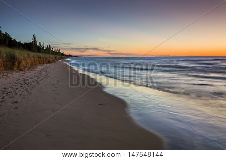 Lake Huron Beach After Sunset - Pinery Provincial Park