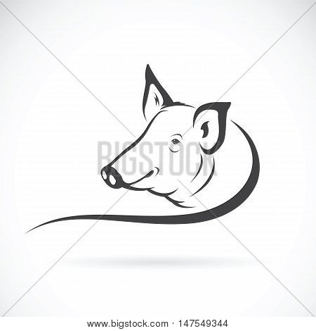 Vector of a pig logo on white background.