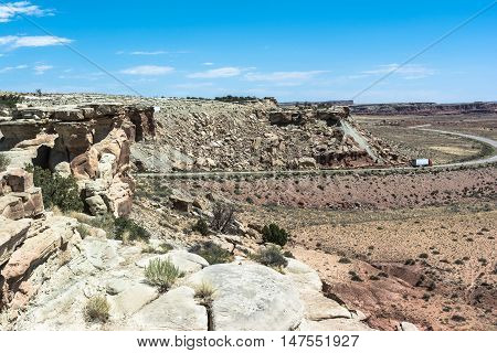 View of Castle Valley landscape in Utah,USA