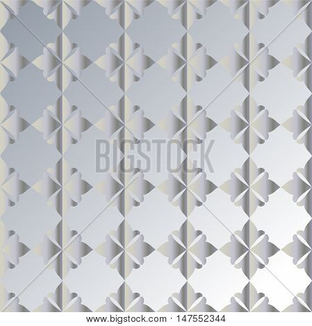 The pattern with decorative ornament on gray background