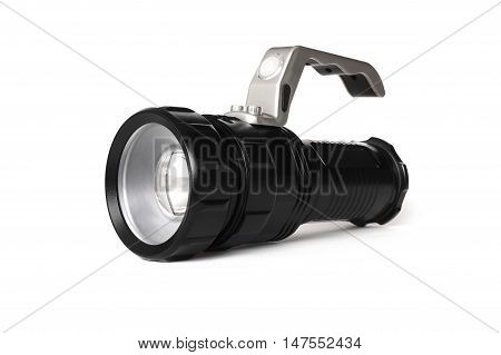 The Flashlight isolated on white colored background