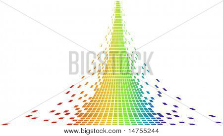 pixels de arco-íris
